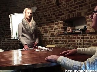 Great sex session with stunning blonde chick Cecilia Scott