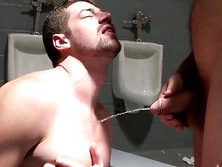 Gloryhole muscle assfucked before cumshot