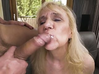 Pallid all wrinkled old whore Nanney is properly fucked doggy style