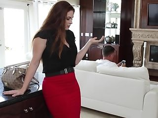Husband seducing his horny wife