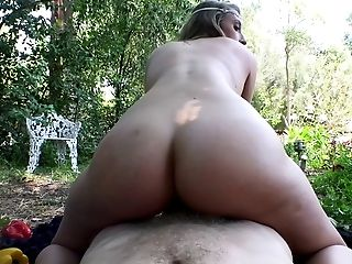 Big Cock, Blonde, Blowjob, Cowgirl, Hardcore, Missionary, Moaning, Nature, Outdoor, POV,