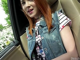 Cutest redhead called Brianna rides the fat cock of her wildest dreams