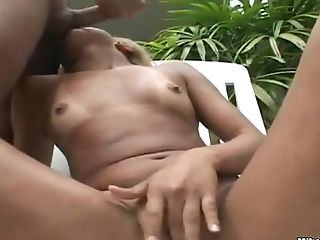 Anselmo gets sucked outdoor by tanned blonde Lylitty