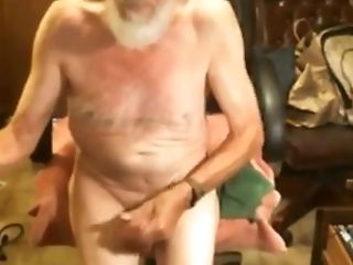 The big sausage of this old gay is still very hard