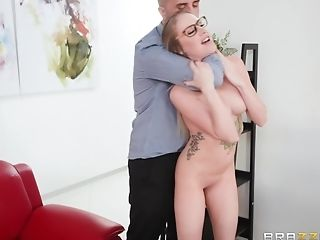 Jenna Jones is a nasty blonde with glasses craving a fat boner