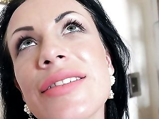 Samantha Blaze is in sexual ecstasy with throbbing tool in her hands