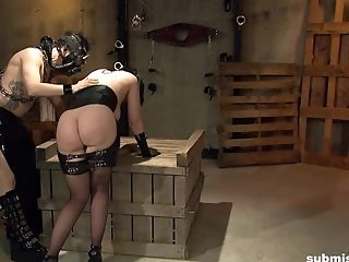 Kinky submissive mature slave Jada Sinn abused in a dungeon hardcore