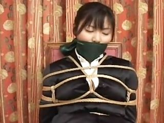 Japanese women costume rope tied 1
