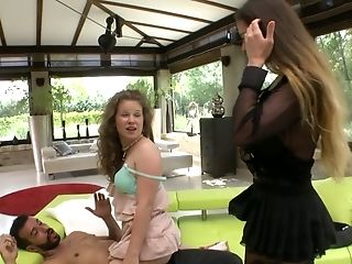 Fucking hot Hungarian bitch Cathy Heaven takes part in crazy threesome