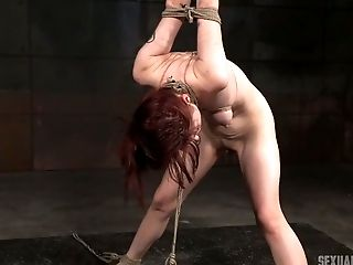 Slutty chick Violet Monroe is punished in the basement