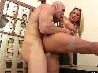 Watch amazing blonde wife Devon Lee sucks and fucks a big dick