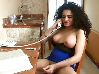 Keira Verga having phone sex