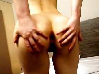 Black haired kinky sex doll in yellow dress seduces shy stud fingering her anus