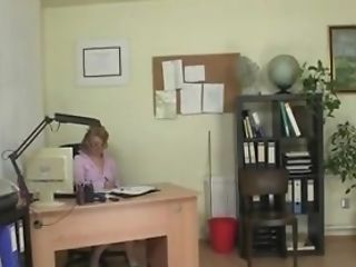 Mature office woman fucks her employee