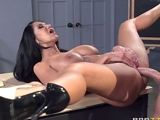Brunette pornstar Ava Addams fucked in her pussy deep from behind