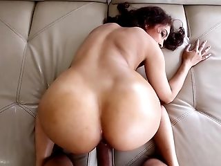 Outstanding amateur POV play with big booty, Kitty Foxxx