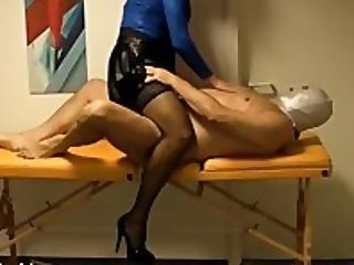 Horny crossdresser Lisa loves sucking cock while her ass is finger fucked