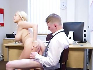 Hot milf in naughty scenes of hardcore at the office