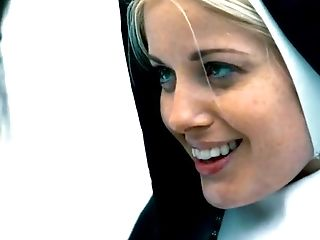 Nasty nuns Charlotte Stokely and Lily Adams having hot sex