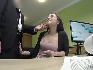 Amateur gets anal fucked when trying to get a loan