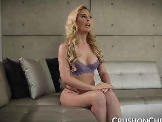 CrushGirls - Cherie Deville masturbating for her stepson