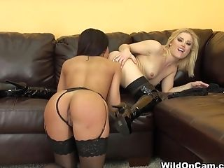 Best pornstars Ash Hollywood, Selena Rose in Horny Lingerie, Cunnilingus xxx video