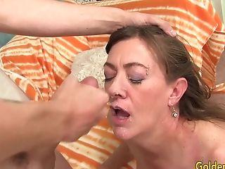 Mature Babe Morgan Has Hairy Pussy Boned