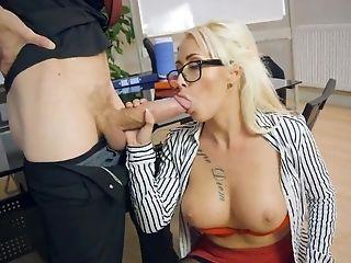 Secretart enjoys the new guy for a few rounds of wild sex