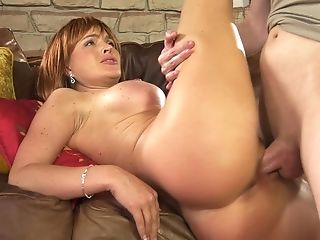 Fit thick MILF Krissy Lynn fucks some nerd and makes him lick her cunt