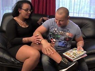 Foot smelling - foot fetish scene