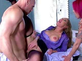 Fantastic group sex with Anna Bell Peaks, Nicole Aniston and Rachel Starr